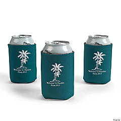 Green Personalized Luau Can Covers
