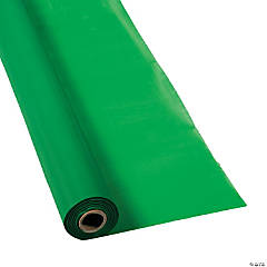 Green Plastic Tablecloth Roll