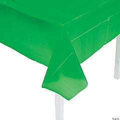 Green Plastic Tablecloth