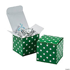 Green Polka Dot Gift Boxes