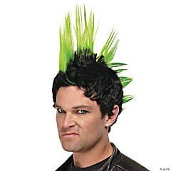 Green Punk Rocker Wig