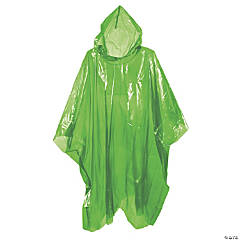 Green Rain Ponchos for Adults