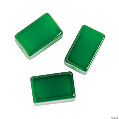 Green Rectangle Beads - 15mm
