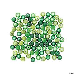 Green Round Beads