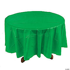 Green Round Plastic Tablecloth