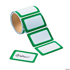 Green Self-Adhesive Name Tags/Labels