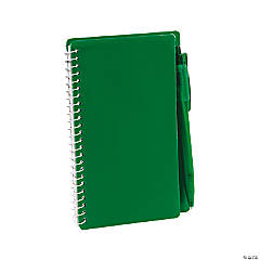Green Spiral Notebooks with Pens