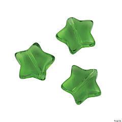 Green Star Beads - 11mm