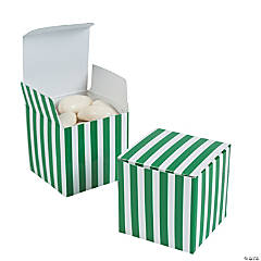 Green Striped Gift Boxes