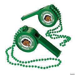 Green Team Spirit Custom Photo Giant Whistles