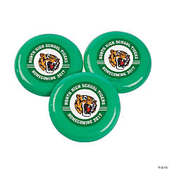 Green Team Spirit Custom Photo Mini Flying Disks