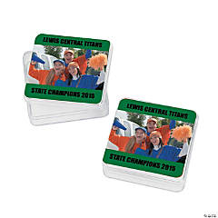 Green Team Spirit Custom Photo Square Containers