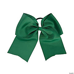 Green Team Spirit Hair Bow