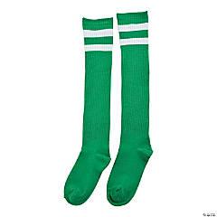 Green Team Spirit Knee-High Socks