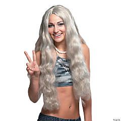 Grey Hippie with Headband Wig