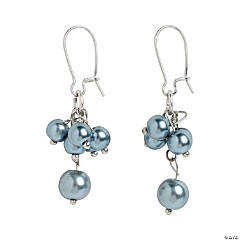 Grey Pearl Earrings Craft Kit
