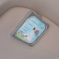 Guardian Angel Visor Clip with Card