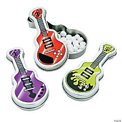 12 Guitar-Shaped Tins with Mints