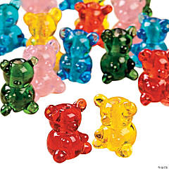 Gummie Bear Lampwork Glass Beads - 8mm x 14mm