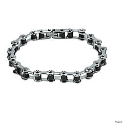 Guy's Silver Bicycle Chain Bracelet