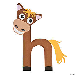 """H Is For Horse"" Letter H Craft Kit"