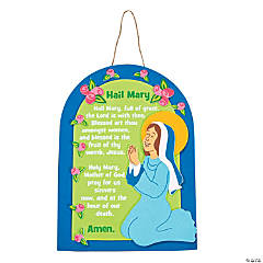 """Hail Mary"" Sign Craft Kit"