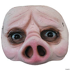 Half Pig Mask for Adults and Children