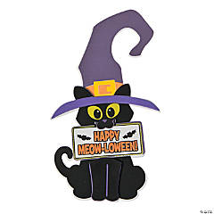 Halloween Cat Doorknob Hanger Craft Kit