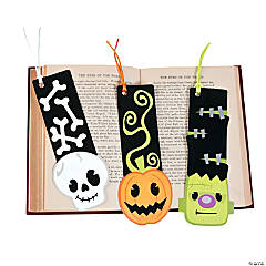 Halloween Character Fuzzy Bookmarks