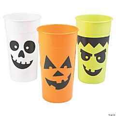 Halloween Character Plastic Tumblers