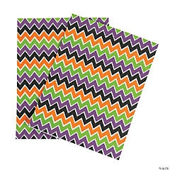 Halloween Chevron Adhesive Sheets