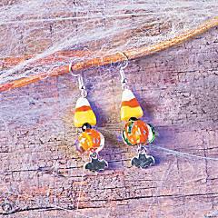 Halloween Chunky Beaded Earrings Idea