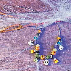 Halloween Chunky Beaded Necklace Idea