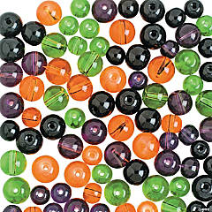 Halloween Colored Round Beads - 8mm