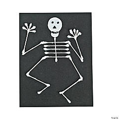 Halloween Cotton Swab Skeleton Idea