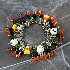 Halloween Crystal Bead Bracelet Idea