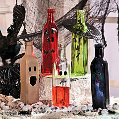 Halloween Decor Bottles Idea