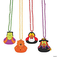 Halloween Ducks Beaded Necklaces