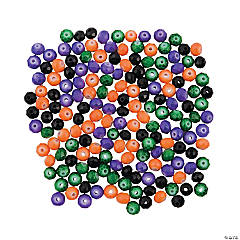 Halloween Faceted Beads