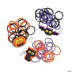 Halloween Fun Loop Bracelet & Charm Craft Kit
