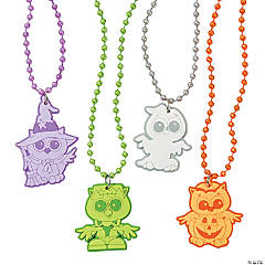 Halloween Hoot Beaded Necklaces