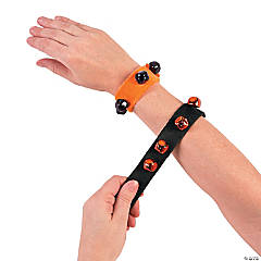 Halloween Jingle Bell Slap Bracelets