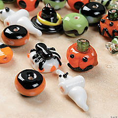 Halloween Lampwork Glass Beads - 3mm-11mm