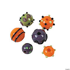 Halloween Lampwork Round Beads - 10mm-15mm
