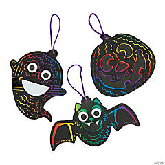 Halloween Magic Color Scratch Ornament Craft Kit