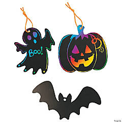 Halloween Magic Color Scratch Ornaments