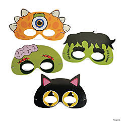 Halloween Masks with Stickers