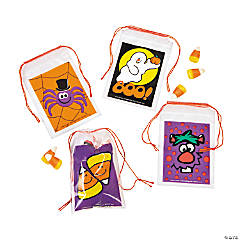 Halloween Mini Drawstring Goody Bags