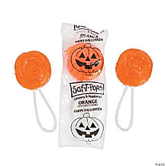 Halloween Orange Flavor Saf-T-Pops® Suckers