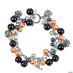 Halloween Pearl Charm Bracelet Craft Kit
